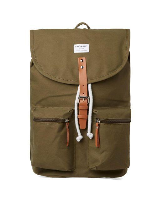 Sandqvist - Green Roald Backpack for Men - Lyst
