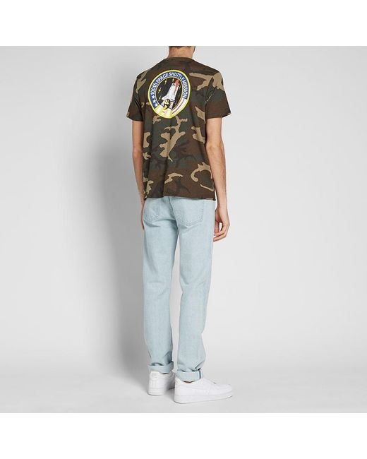 Alpha Industries - Green Space Shuttle Tee for Men - Lyst