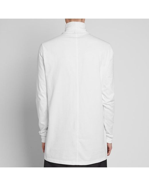 f0debec1d25f ... Rick Owens - White Roll Neck Sweat for Men - Lyst ...