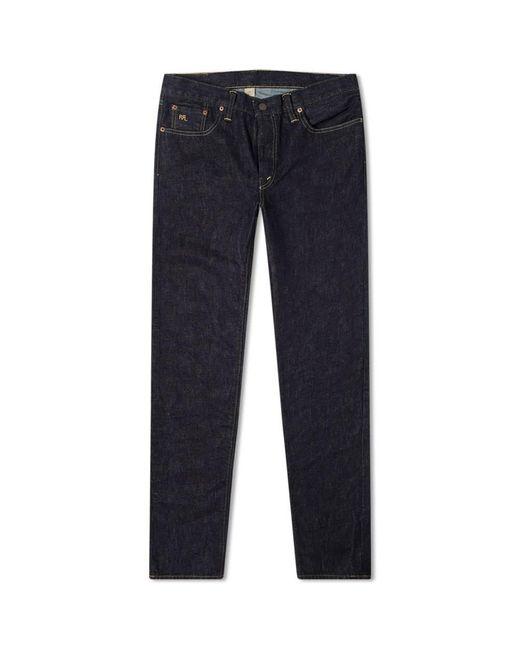 RRL Blue Slim Narrow Jean for men