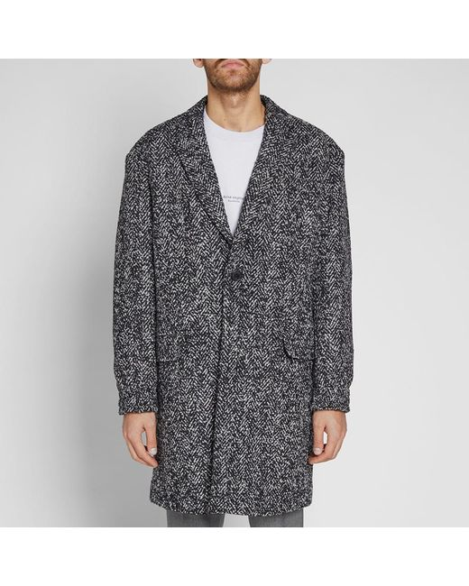 f0684a5a KENZO Long Wool Coat in Black for Men - Save 23% - Lyst