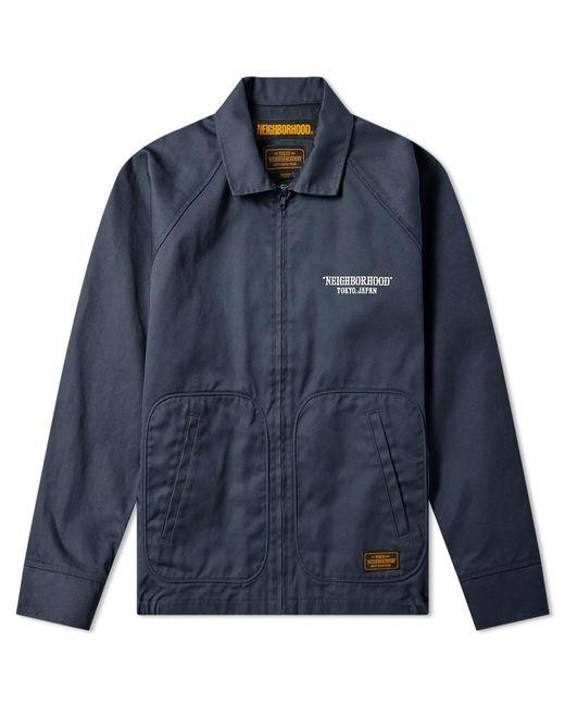 Neighborhood Blue Drizzler Jacket for men