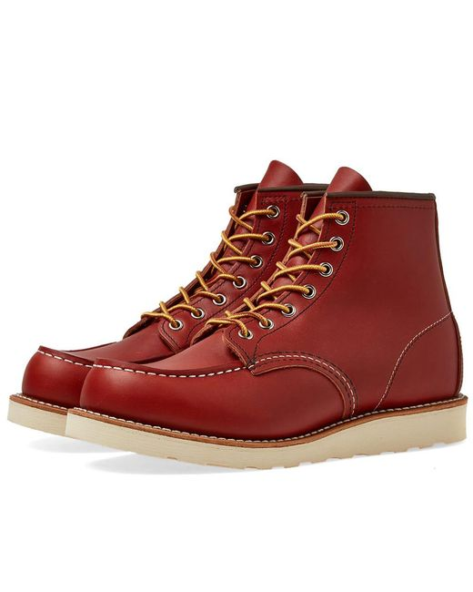 """Red Wing - Brown 8131 Heritage Work 6"""" Moc Toe Boot for Men - Lyst"""