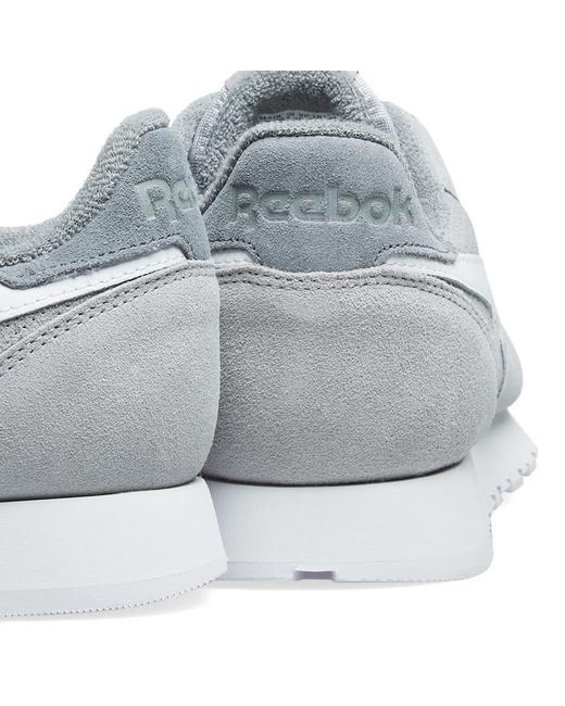 c640bb7752c ... Reebok - Gray Classic Leather Suede for Men - Lyst ...