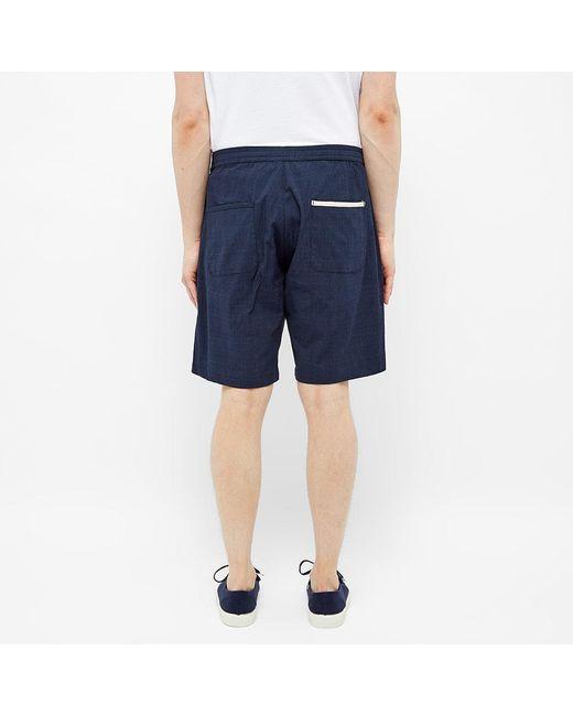 Oliver Spencer Blue Drawstring Short for men