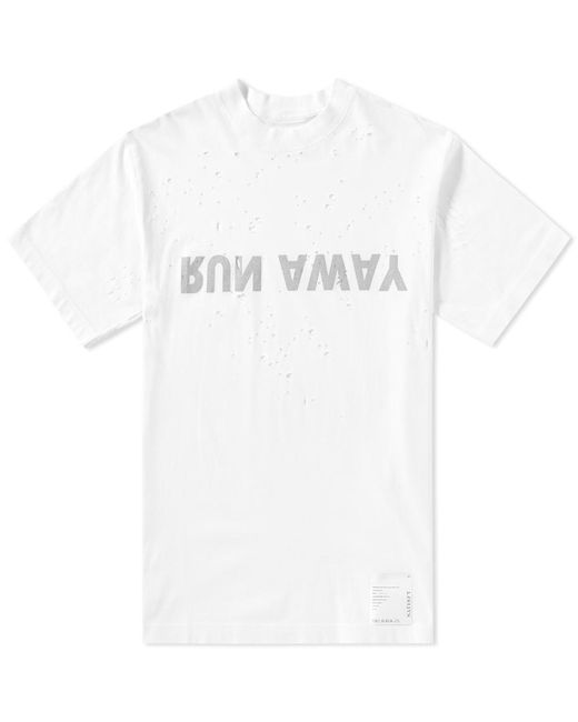 Satisfy | White Run Away Moth Eaten Tee for Men | Lyst