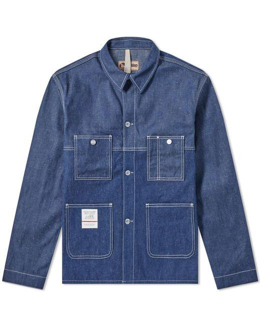 c7b373c41757 Nigel Cabourn - Blue X Lybro Split Mechanics Jacket for Men - Lyst ...