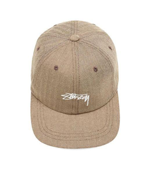 c30508a3879 Lyst - Stussy Stock Herringbone Low Pro Cap in Brown for Men - Save 57%