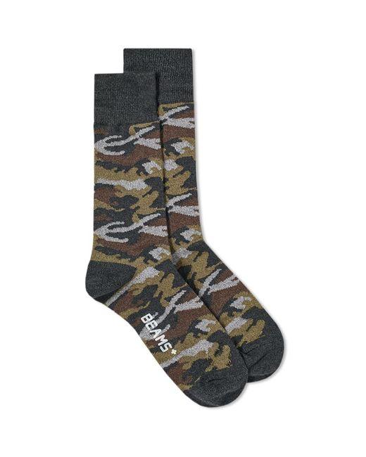 Beams Plus - Gray Camo Sock for Men - Lyst