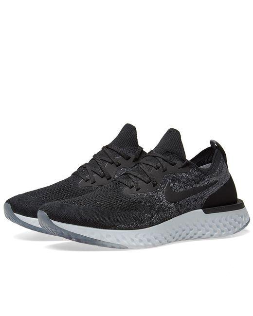 d312af104481 Nike - Black Epic React Flyknit for Men - Lyst ...