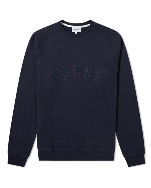 Norse Projects - Blue Ketel Classic Ivy Logo Sweat for Men - Lyst