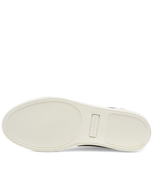 Lanvin Black Patent Toe Cap Low Sneaker for men