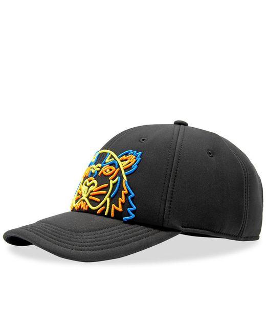KENZO - Black Neon Neoprene Tiger Cap for Men - Lyst