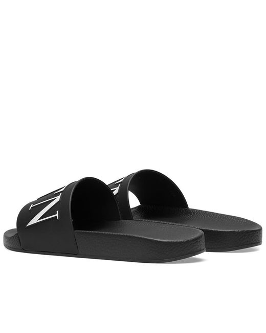 b29e1bd5d41d Lyst - Valentino Logo Sandals in Black for Men - Save 57%
