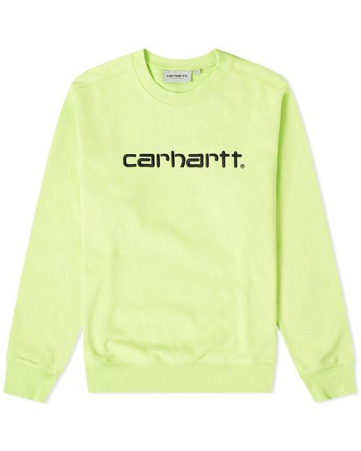 Carhartt WIP Green Logo Sweat for men