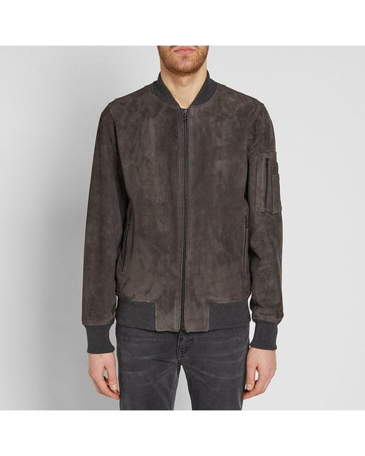 d71d48a77 Rag & Bone Suede Manston Jacket in Gray for Men - Lyst