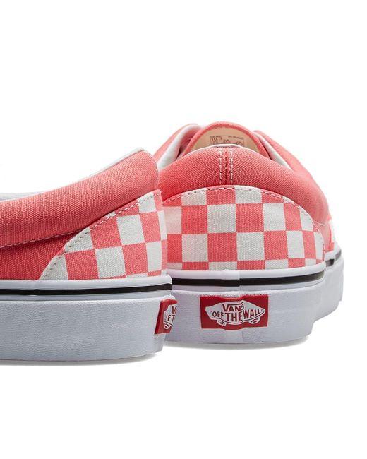 a254229e71 ... Vans - Pink Ua Era Checkerboard for Men - Lyst ...