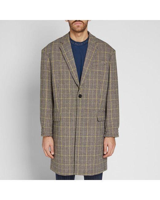 0d0ccf50 KENZO Long Wool Check Coat for Men - Save 23% - Lyst