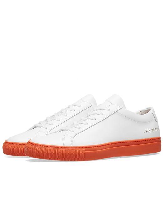 Common Projects Orange Original Achilles Low Coloured Sole