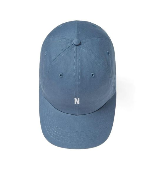028c29a2111 ... Norse Projects - Blue Light Twill Sports Cap for Men - Lyst ...