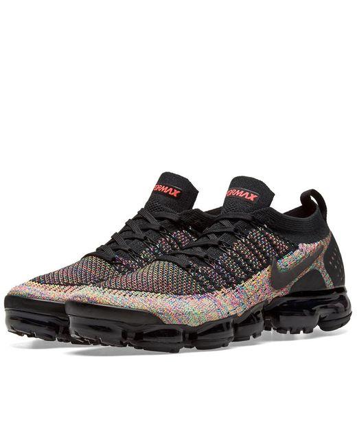 48636443ac59d Nike - Black Air Vapormax Flyknit 2 for Men - Lyst ...