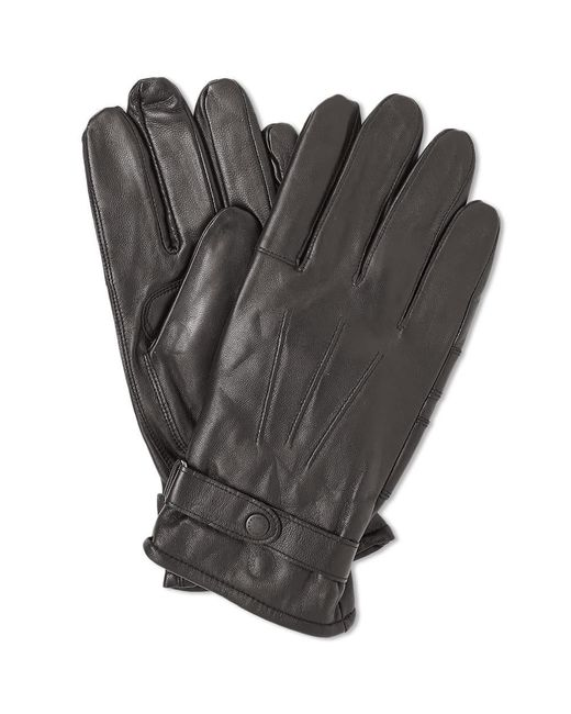 Barbour Brown Burnished Leather Thinsulate Glove for men