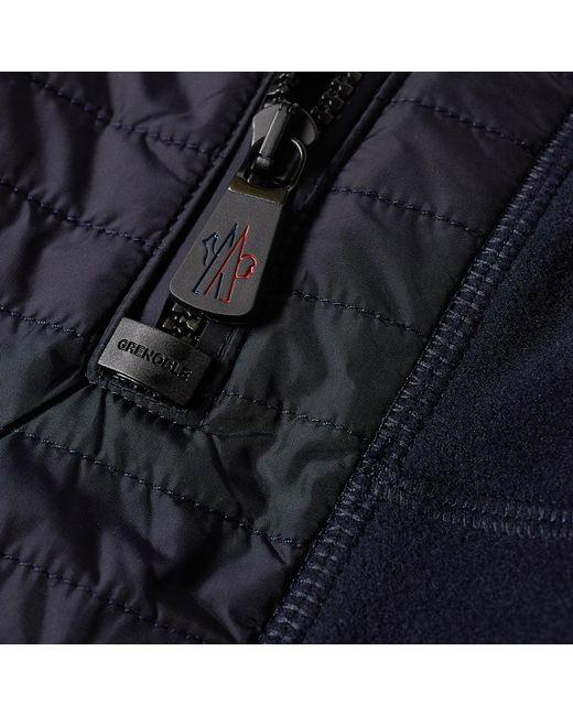 lyst moncler grenoble grenoble full zip fleece in blue for men save 41. Black Bedroom Furniture Sets. Home Design Ideas