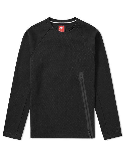 Nike   Black Tech Fleece Zip Crew for Men   Lyst