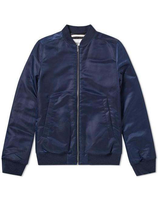 Norse Projects - Blue Ryan Sateen Bomber Jacket for Men - Lyst