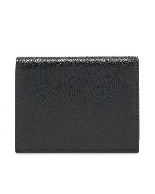 Thom Browne Black Double Card Holder for men