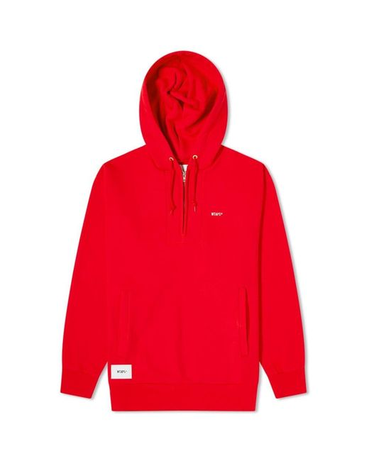 (w)taps Red Outrigger 02 Half Zip Sweat for men