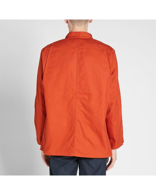 1b47ab962c97 Nigel Cabourn Lybro Work Jacket in Orange for Men - Save 23% - Lyst