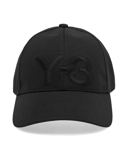 9adaec646 Y-3 Logo Cap in Black for Men - Save 21% - Lyst