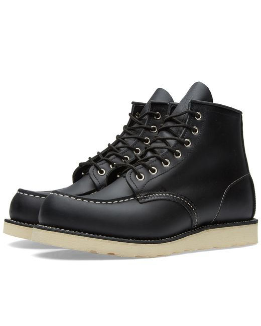 """Red Wing - Black 8130 Heritage Work 6"""" Moc Toe Boot for Men - Lyst"""
