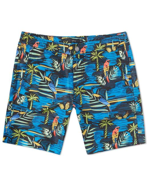"Onia Black Calder 7.5"" Island Convo Swim Short for men"