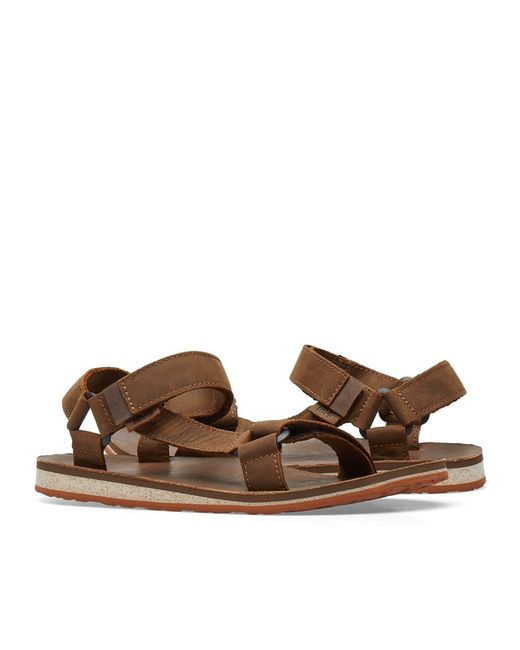 189642762ff7 ... Teva - Brown Original Universal Premium Leather Sandal for Men - Lyst