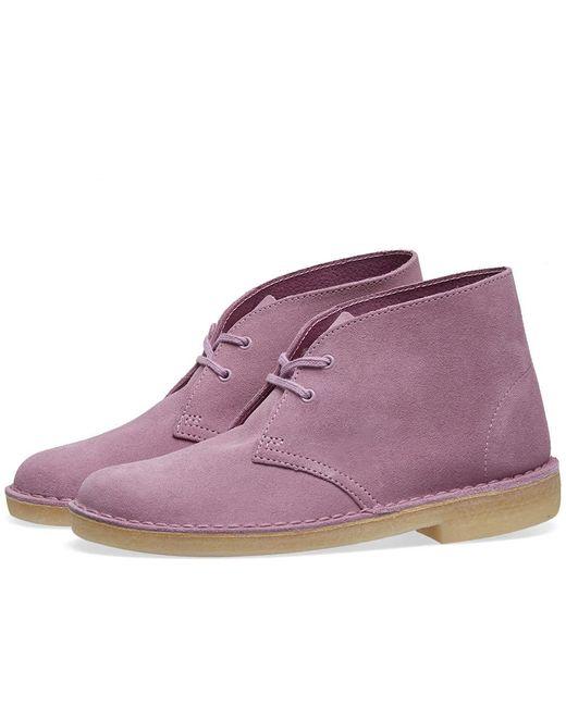 Clarks Purple Desert Boot W