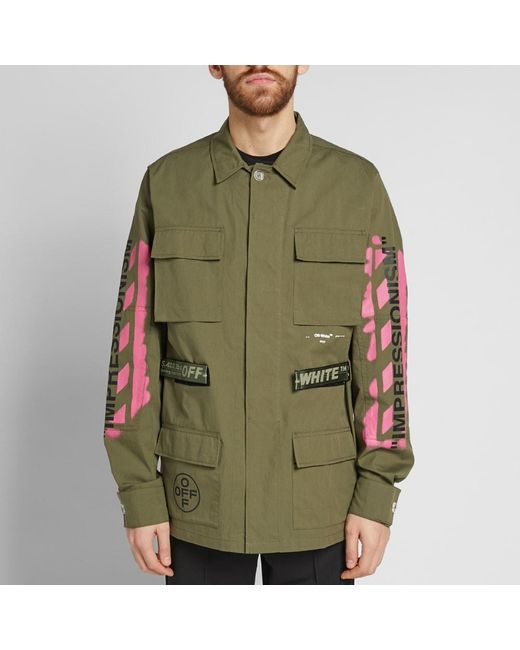 db6787db8986 ... Off-White c o Virgil Abloh - Green Diagonal Arrows Field Jacket for Men  ...