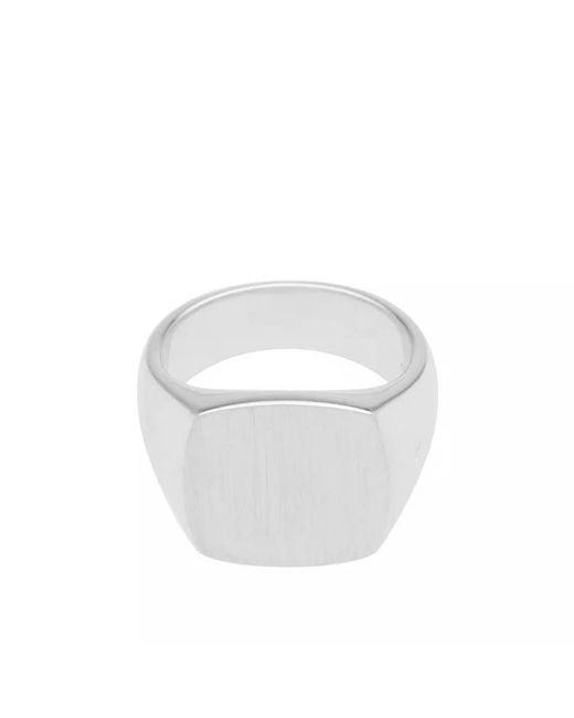 Tom Wood - Metallic Cushion Satin Ring for Men - Lyst
