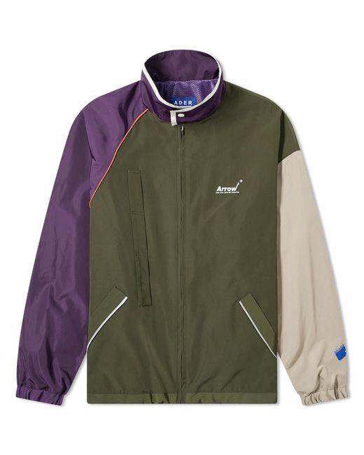 ADER ERROR Green Colour Block Zip Jacket for men