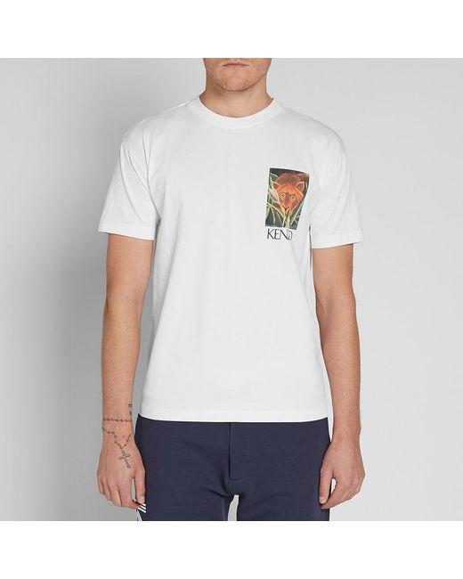 b341d233 Lyst - KENZO White Jungle Tiger Memento T-shirt in White for Men ...
