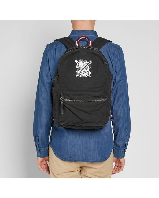Backpack Men's Club Embroidered Black Rowing 6gfYb7y