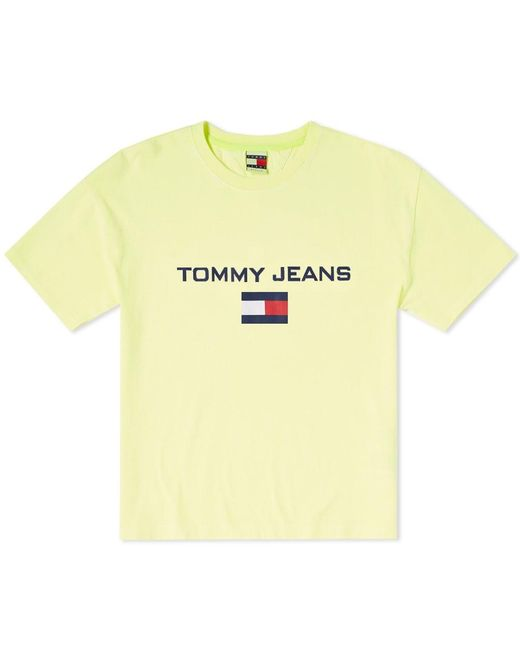 2cc3e574adf Tommy Hilfiger - Yellow 5.0 Women s 90s Logo Tee - Lyst ...