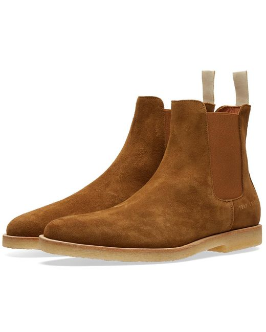 Common Projects | Brown Chelsea Boot Suede for Men | Lyst