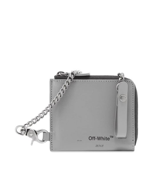 Off-White c/o Virgil Abloh Gray Logo Chain Wallet for men