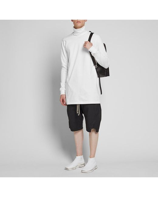 b17373774f07 ... Rick Owens - White Roll Neck Sweat for Men - Lyst