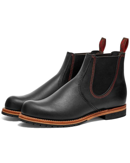 Red Wing Black 2918 Chelsea Rancher Boot for men