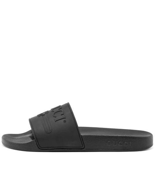 8b8643c50 ... Gucci - Black Print Slide for Men - Lyst ...