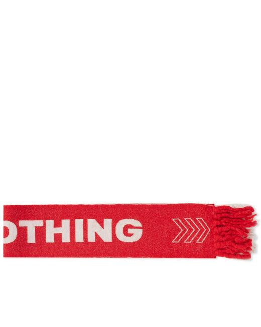 Lanvin - Red Nothing Football Scarf for Men - Lyst