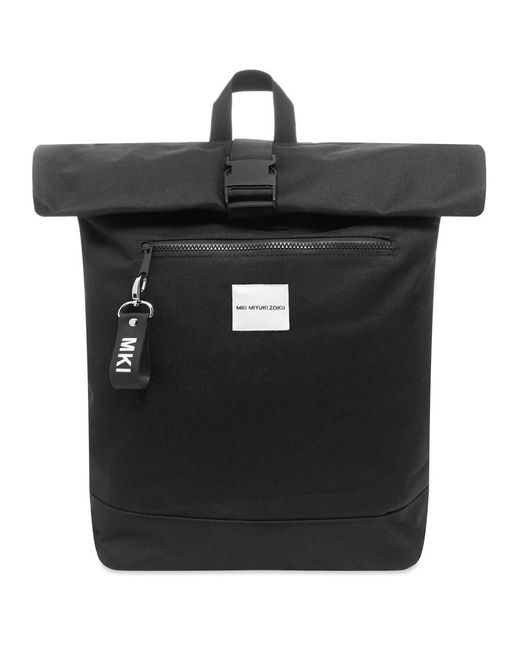 MKI Miyuki-Zoku Black 600 Rolltop Bag for men